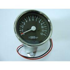 Tachometer Chrome 0-12,000 RPM 1=1:5 Ratio Tach Chopper Custom Harley Davidson