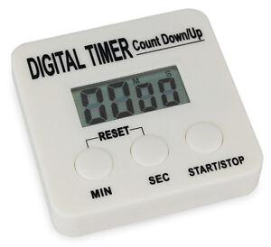 Digitaler Timer, Kurzzeitmesser, Zeituhr mit Magnetclip, lauter Alarm, Stoppuhr
