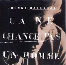 CD CARTONNE CARDSLEEVE JOHNNY HALLYDAY 2 TITRES CA NE CHANGE PAS UN HOMME  NEUF