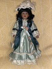 COLLECTIBLE MEMORIES African American PORCELAIN DOLL Camille