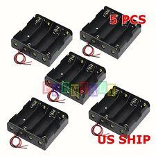 5pcs Plastic Durable Battery Holder Storage Box Case for 4x18650 Battery