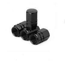 4PCS Black Anodized Aluminum Tire Valve Stem Cap Fit For Auto-Car-Truck-Bike