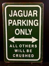 Jaguar Parking Metal Sign / Vintage Garage Wall Decor (30 x 20cm)