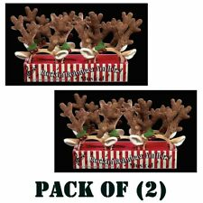 Pack of (2) The Bearington Collection Rockin' Reindeer Ears Headband Kids Toy
