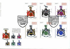 Portugal 2016 FDC Army Heraldry 6v Set Cover Coat of Arms Military Stamps