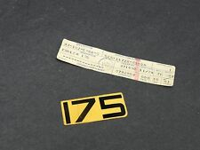 NOS New Yamaha 1977-1978 IT175 175 Side Cover Decal 525-14729-20