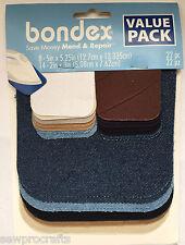 Bondex Iron On Fabric Repair/Mending Tape Patches - LARGE Multipack Hole Repair