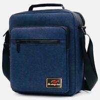 Men's Bag Canvas Utility Work Travel Messenger Waterproof  Satchel Shoulder Bag
