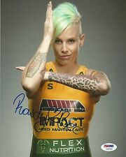 Rowdy Bec Rawlings Signed UFC 8x10 Photo PSA/DNA COA The Ultimate Fighter Auto'd