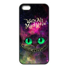 iPhone 7 Alice in Wonderland We're All Mad Here Galaxy Cheshire Cat Mobile Case