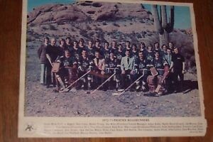 PHOENIX ROADRUNNERS 1972-73 team photo with 22 cut autographs (with Howie Young)