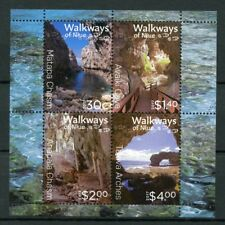 NIUE 2017 MNH Walkways of Niue 4v M/S Caves Chasms Tourism Landscapes Stamps
