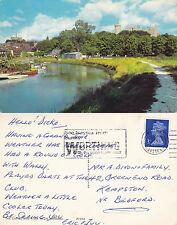 1970's THE CASTLE & RIVER ARUN ARUNDEL SUSSEX COLOUR POSTCARD