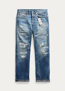 Ralph Lauren RRL Distressed Repaired Vintage Selvedge Jeans 36 x 30 New $490