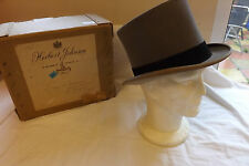 Original Vintage Gentlemen's Grey Top Hat Herbert Johnson Boxed Size Small (2578