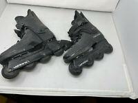 Vintage 1988 Rollerblade Lightning Inline Skates Black Size 7.5 Mens 608 Wheels