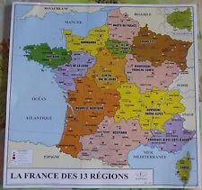 Affiche scolaire France 13 Régions édition Rossignol 2016 format 34,5 x 34 cm
