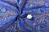 1/2 YD X 72CM DAMASK JACQUARD BROCADE FABRIC: PEACOCK FEATHER FLORAL STYLE