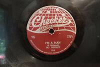 "Bo Diddley, Bo Diddley / I'm A Man, Checker 814, 9155, 10"" 78 RPM, Chicago Blues"