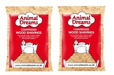 2x LARGE ANIIMAL DREAMS NATURAL WOOD SHAVINGS SAWDUST PET BEDDING HAMSTER RABBIT