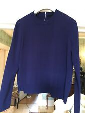 TOPSHOP NAVY VINTAGE STYLE SWEATER SIZE 8