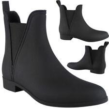 Womens Ladies Ankle Wellies Wellington Rain Snow Chelsea Boots Ladies Shoes Size