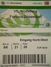 TICKET 2012/13 VfL Wolfsburg - Fortuna Düsseldorf