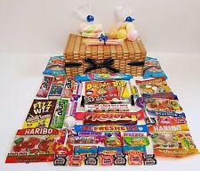 RETRO SWEET HAMPER WICKER EFFECT BOYS / MALE BIRTHDAY CANDY GIFT BOX