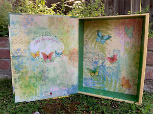 Butterfly Design Punch Studio Large Book Storage Jewelry Hidden Stash Gift Box