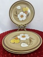 "SET OF 3- HEARTHSIDE - DOGWOOD -  STONEWARE 10 1/2"" DINNER PLATES - EUC"