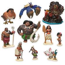 10Pcs Moana 8cm Figure Doll Toy Set Gift Maui/Tamatoa/Sina/Chief Tui/Gramma Tala