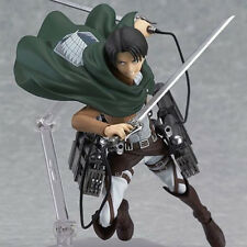 Attack On Titan Action Figure Shingeki No Kyojin Levi Ackerman Figma Collection