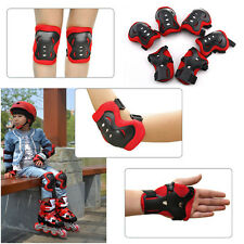 Elbow Knee Wrist Protective Guard Safety Gear Pads Skate Bicycle Kids Teenagers