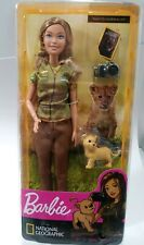 Mattel Barbie Doll  National Geographic Photojournalist with Lion Cub and Camera