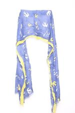 Free spirit yellow,white bird flight graphic print & sublime blue scarf(S28)