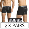 2 X PAIRS BONDS MENS ACTIVE MAX MID TRUNK - Trunks Underwear Black