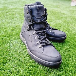 ECCO YAK HYDROMAX MEN'S LEATHER LINED WINTER /BIKE BOOTS BLACK SIZE UK11 EU46