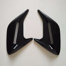 2PCS Car Black Chrome Exterior Decorative Side Air Intake Vent Air Flow Grille