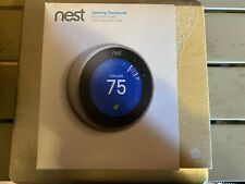 NEST 3rd Generation T3007ES Learning Stainless Steel Programmable Thermostat!