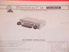 1974 CLARION AM RADIO SERVICE MANUAL RE-127A CHEVROLET FORD CHRYSLER DODGE BUICK