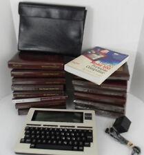 Vintage Radio Shack TRS-80 Model 100 Portable Computer Cord Case Programs Book
