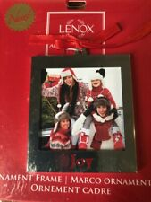 Lenox Silver Joy Christmas Ornament Frame/Picture Holder