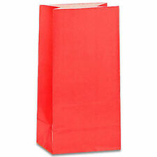 12 Ruby Red Paper Gift Bags - Birthday Toy Loot Party Bag Fillers Wedding Kids