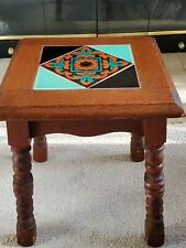 Vintage Art Deco Mission Monterey Catalina Malibu Taylor Red Clay Tile Table