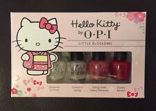 OPI Hello Kitty Little Blossoms 4pc Mini Nail Polish Set Brand New!