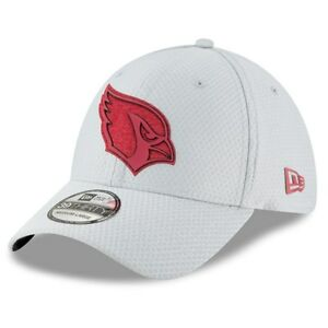 Arizona Cardinals 2018 Men's New Era Gray Training Camp 39THIRTY Flex Hat, M/L