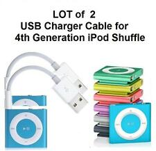 Lot of 2 Usb Data Sync & Charger Cable Cord for Apple iPod Shuffle 4th Gen