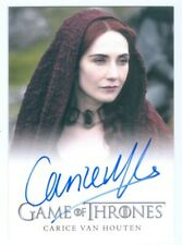 "CARICE VAN HOUTEN ""LIMITED MELISANDRE AUTOGRAPH CARD"" GAME OF THRONES SEASON 4"