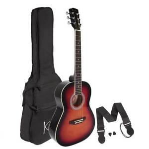 Left Handed Guitar, Koda 3/4 Acoustic Guitar PACK, Sunburst