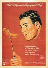 postcard MEAT 🌭 Vintage style advertising William Bendix Hollywood post card